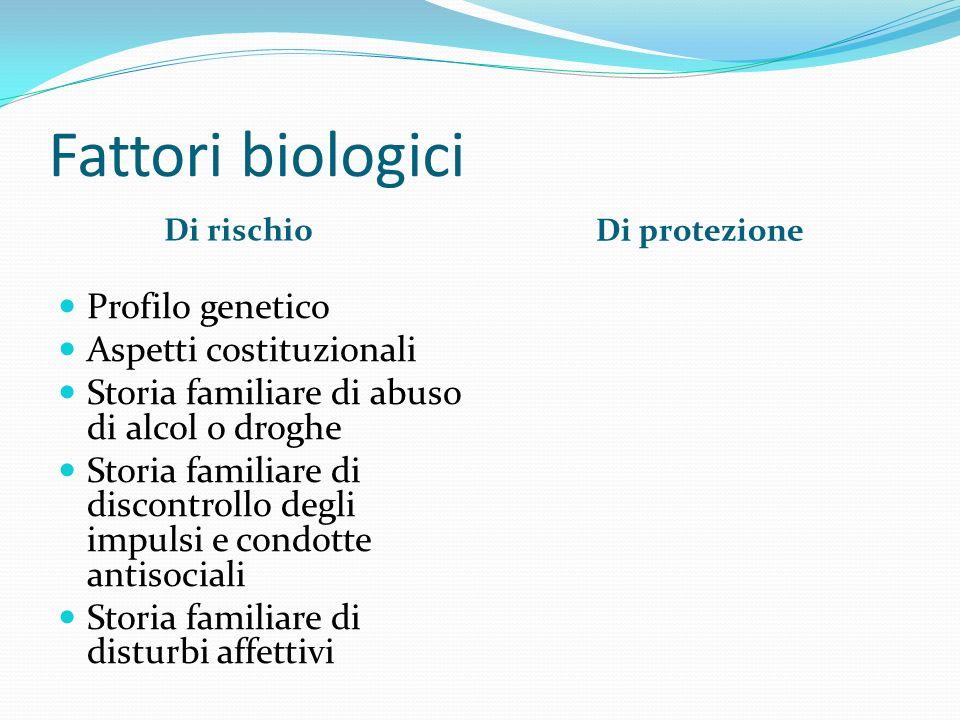 Fattori biologici Profilo genetico Aspetti costituzionali