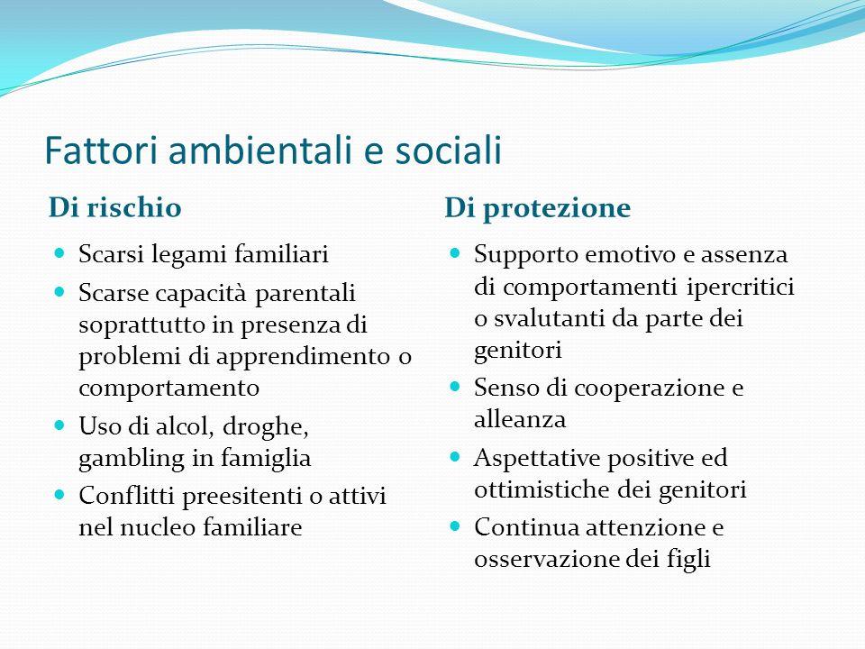 Fattori ambientali e sociali