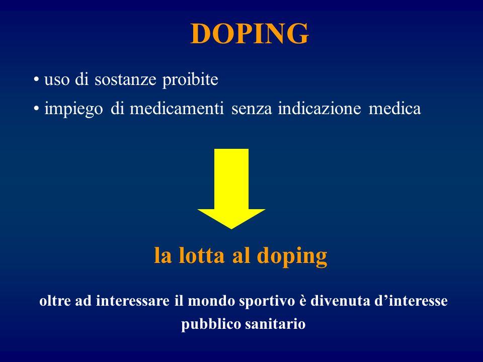 DOPING la lotta al doping uso di sostanze proibite