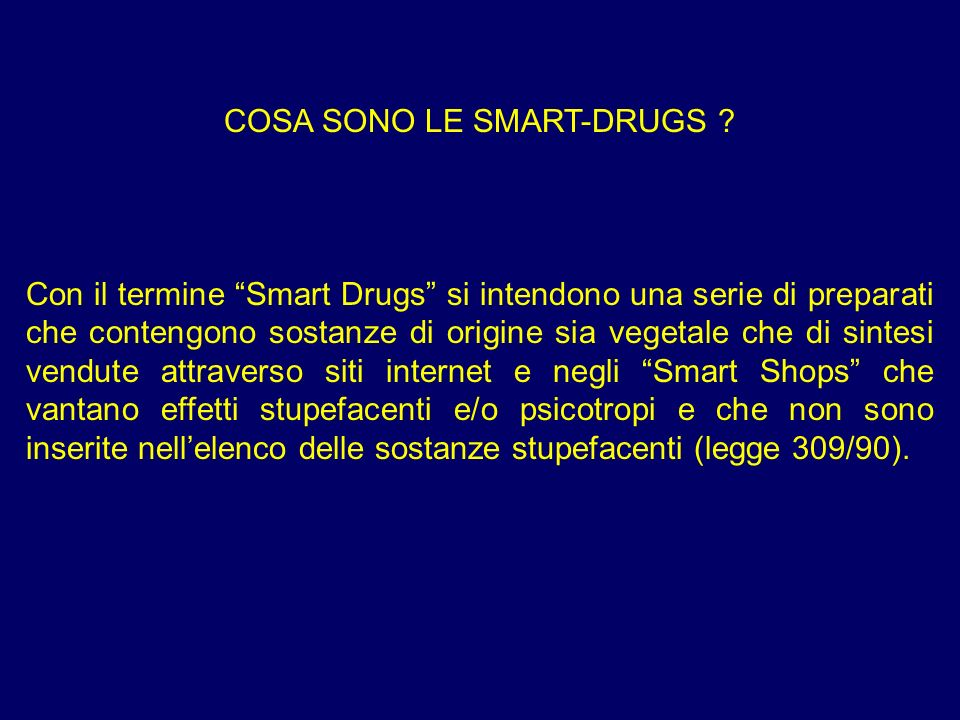 COSA SONO LE SMART-DRUGS