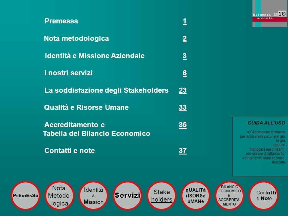 Identità e Missione Aziendale 3 I nostri servizi 6