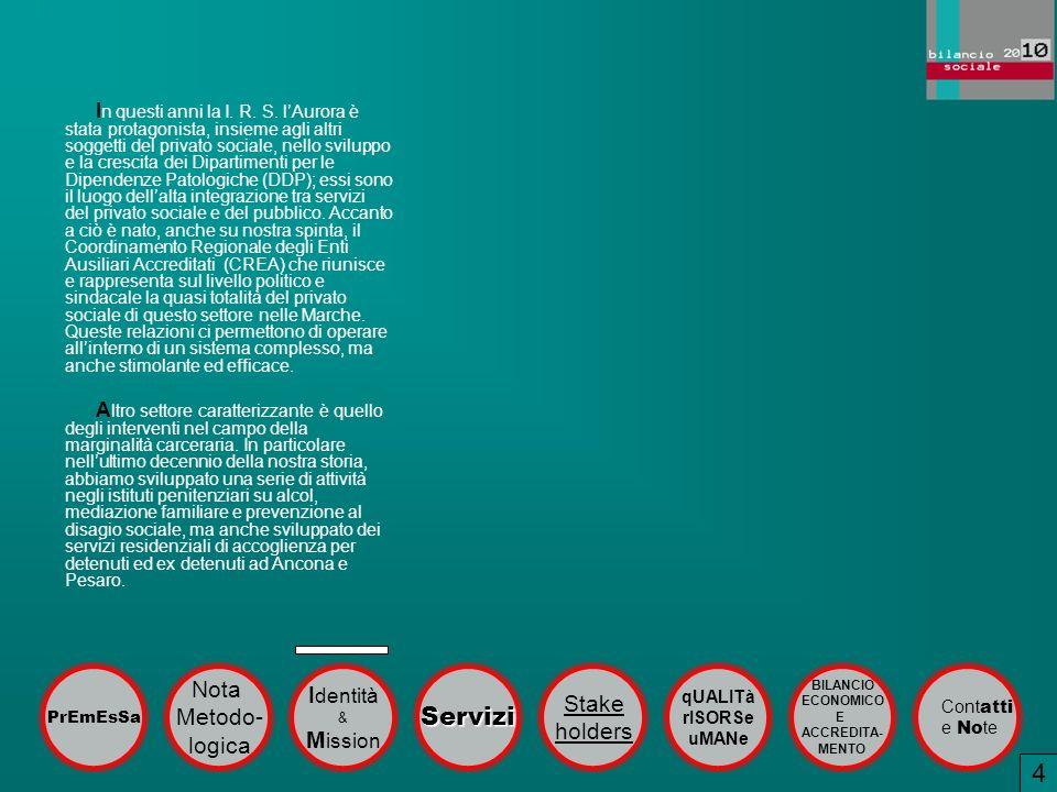 4 1 Servizi Nota Identità Stake Metodo- holders logica Mission
