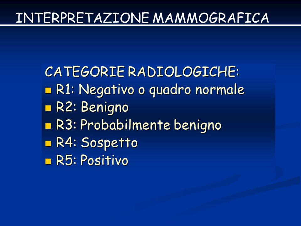 INTERPRETAZIONE MAMMOGRAFICA