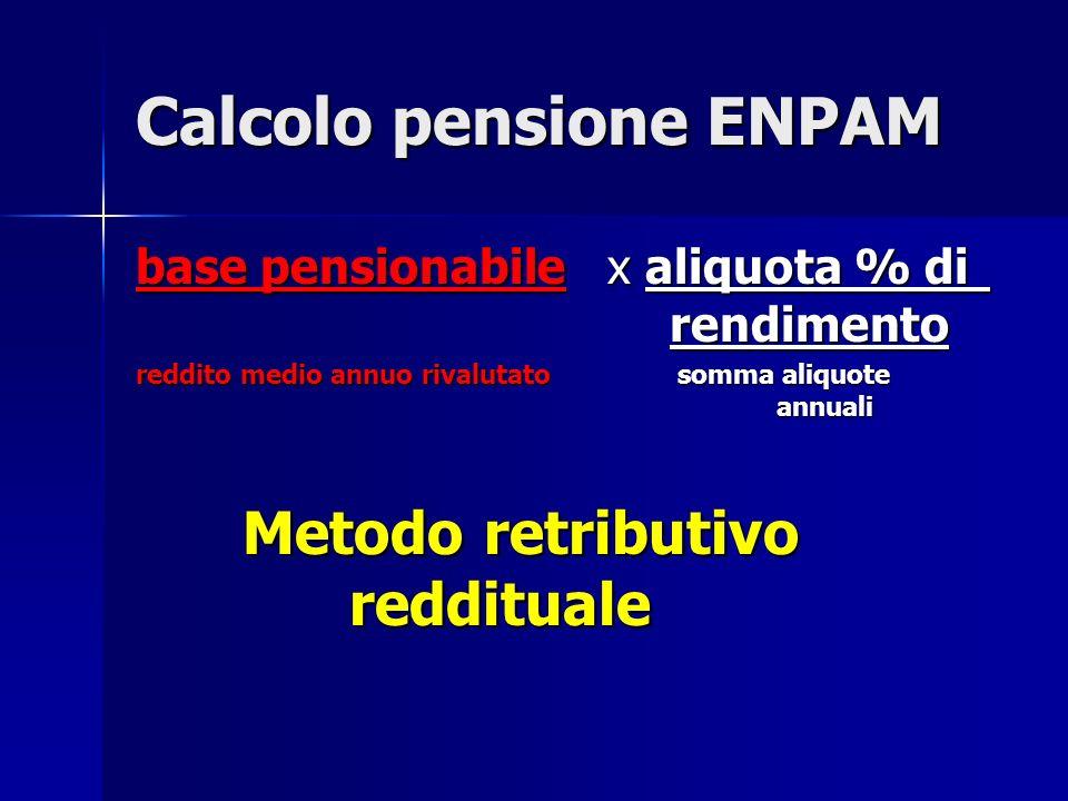 Calcolo pensione ENPAM