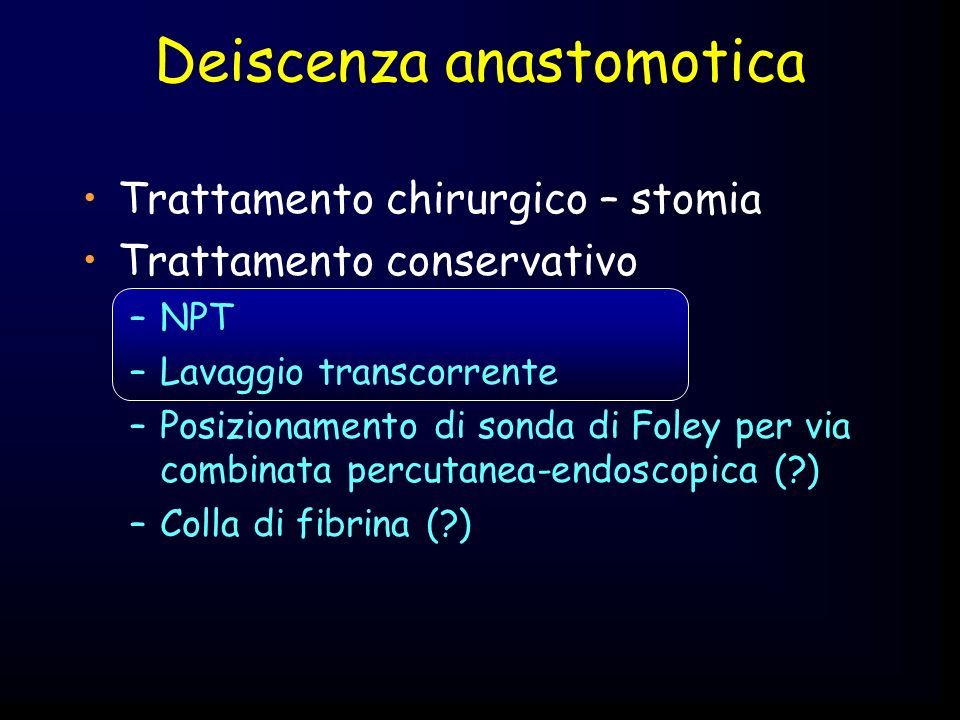 Deiscenza anastomotica