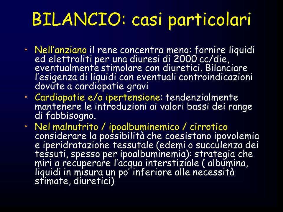 BILANCIO: casi particolari