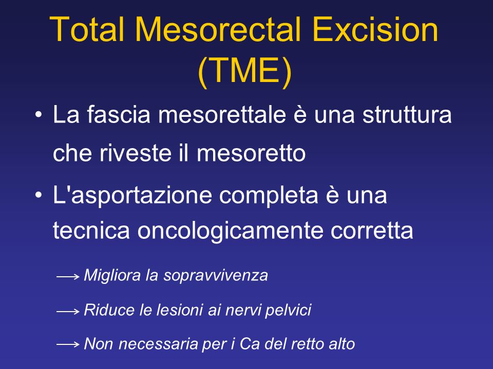 Total Mesorectal Excision (TME)