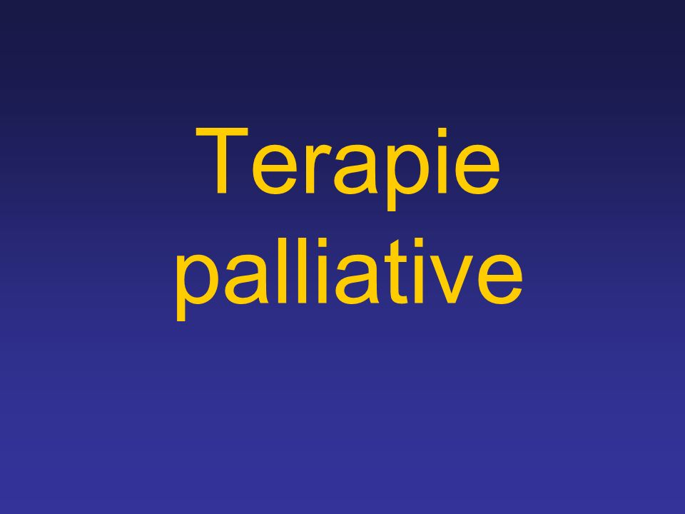 Terapie palliative