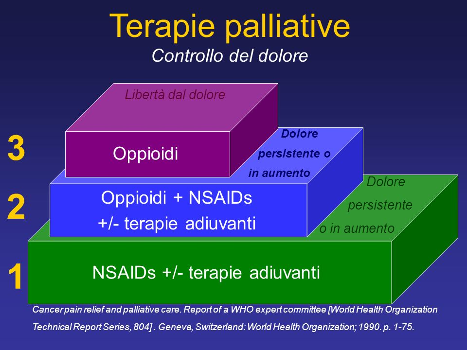 3 2 1 Terapie palliative Controllo del dolore Oppioidi