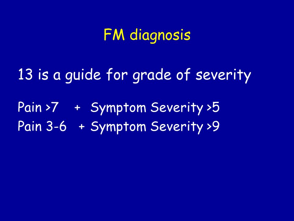 13 is a guide for grade of severity