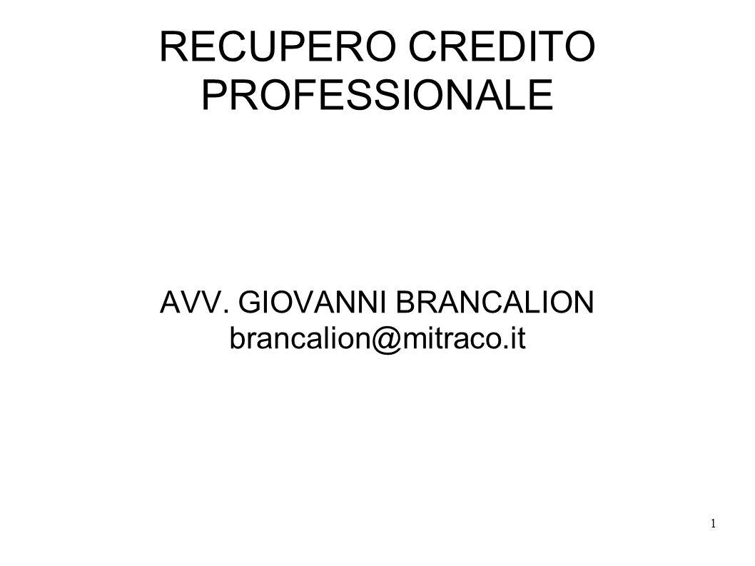 RECUPERO CREDITO PROFESSIONALE