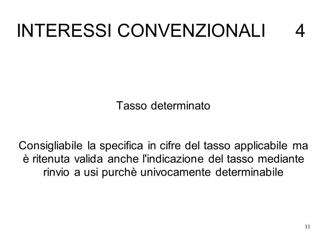 INTERESSI CONVENZIONALI 4