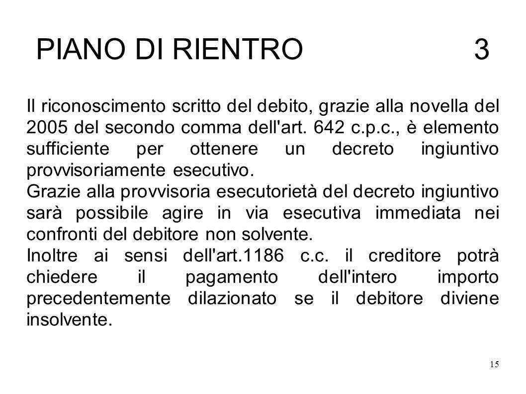 PIANO DI RIENTRO 3