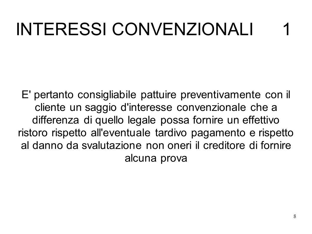 INTERESSI CONVENZIONALI 1