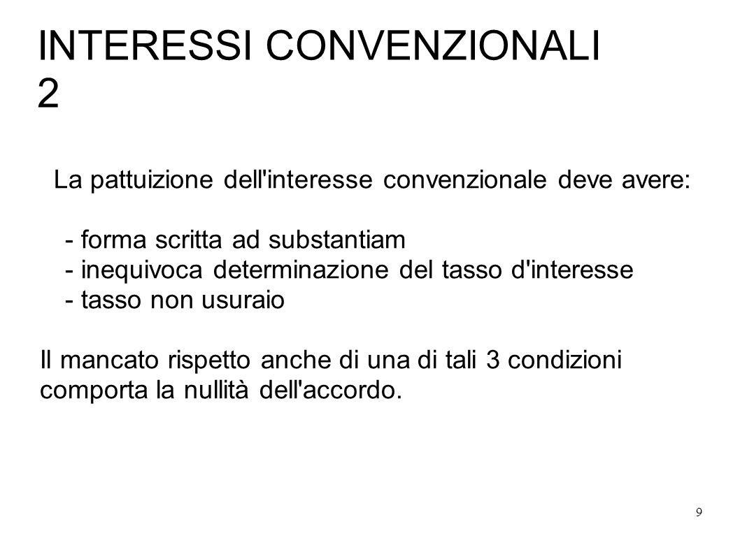 INTERESSI CONVENZIONALI 2