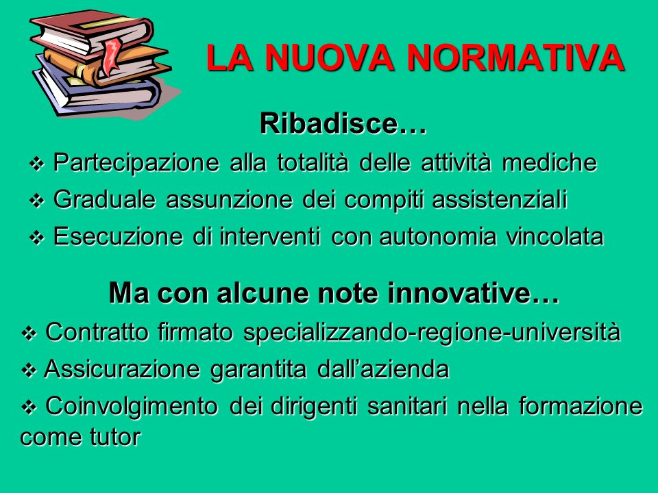 Ma con alcune note innovative…