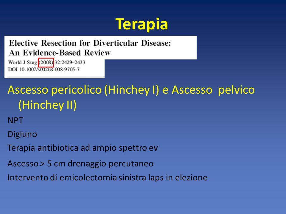 Terapia Ascesso pericolico (Hinchey I) e Ascesso pelvico (Hinchey II)