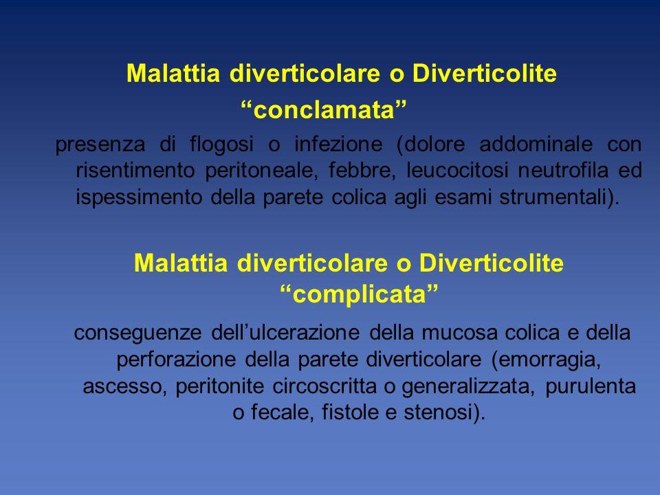 Malattia diverticolare o Diverticolite complicata