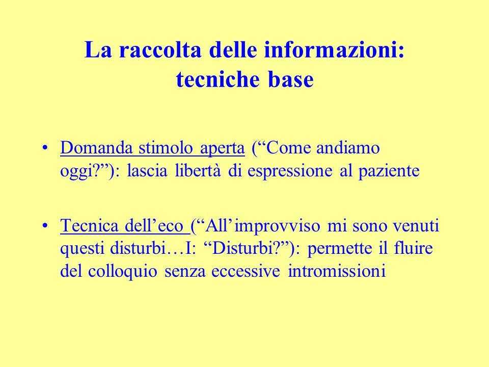 La raccolta delle informazioni: tecniche base