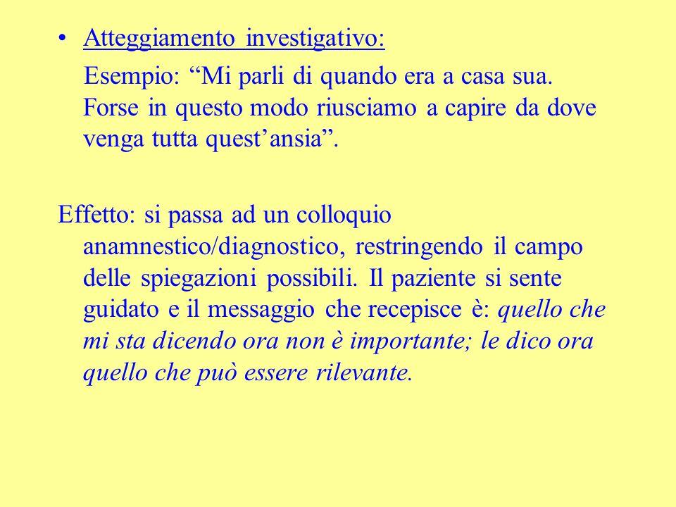 Atteggiamento investigativo:
