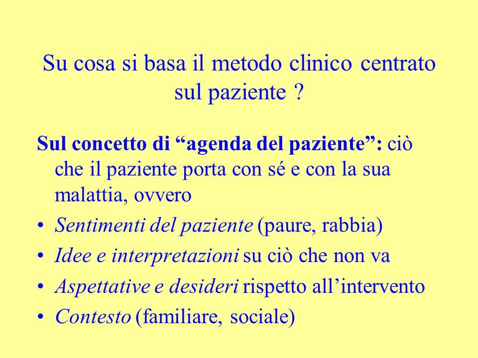 Su cosa si basa il metodo clinico centrato sul paziente