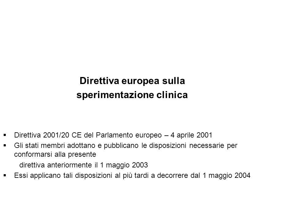 Direttiva europea sulla sperimentazione clinica