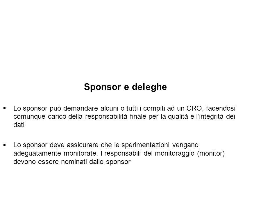 Sponsor e deleghe