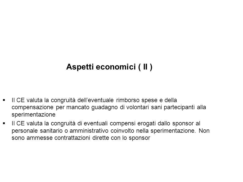 Aspetti economici ( II )