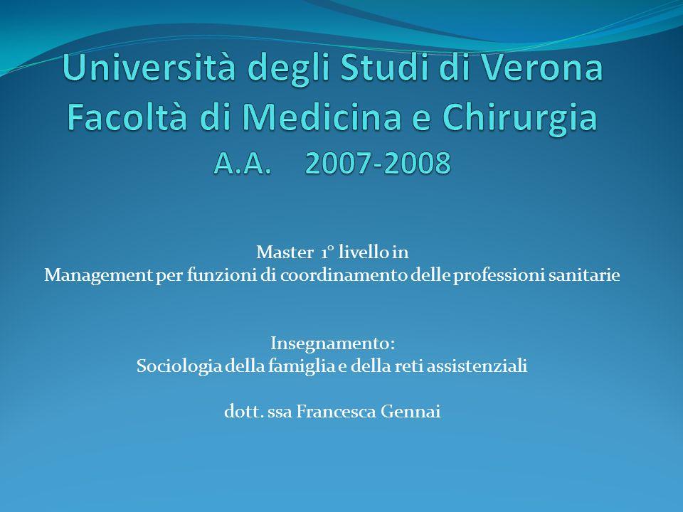 Università degli Studi di Verona Facoltà di Medicina e Chirurgia A. A