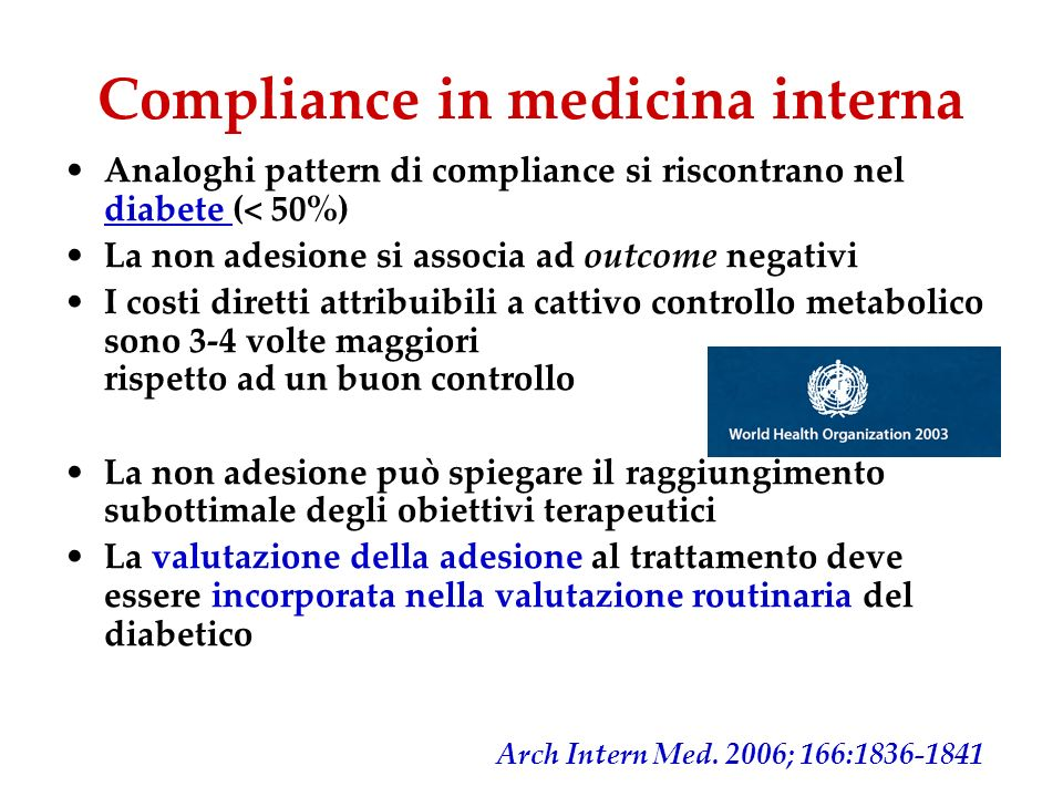Compliance in medicina interna