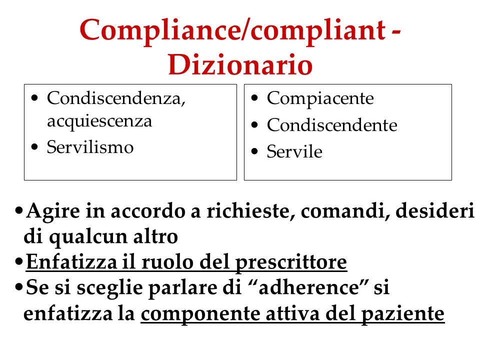 Compliance/compliant - Dizionario