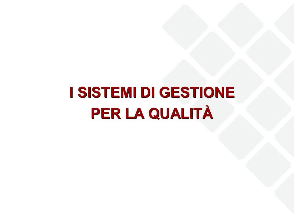 I SISTEMI DI GESTIONE PER LA QUALITÀ