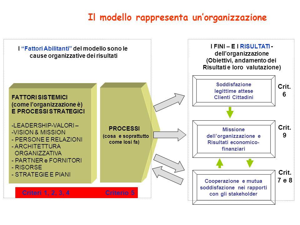 Il modello rappresenta un'organizzazione