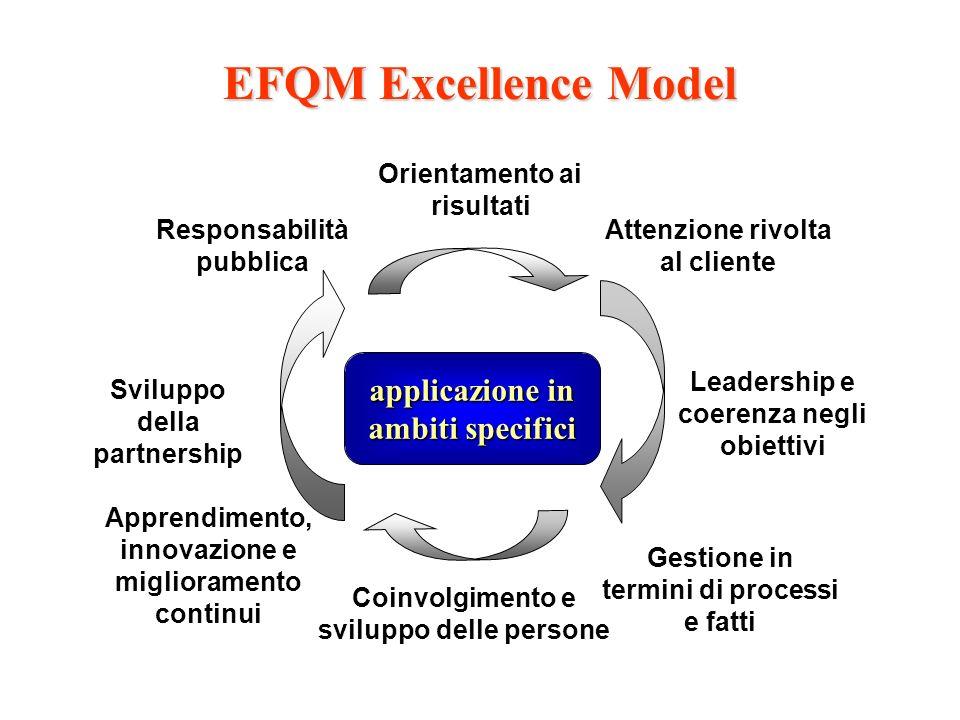 EFQM Excellence Model applicazione in ambiti specifici