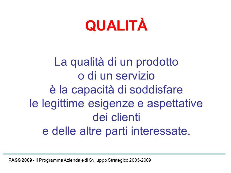 QUALITÀ La qualità di un prodotto o di un servizio