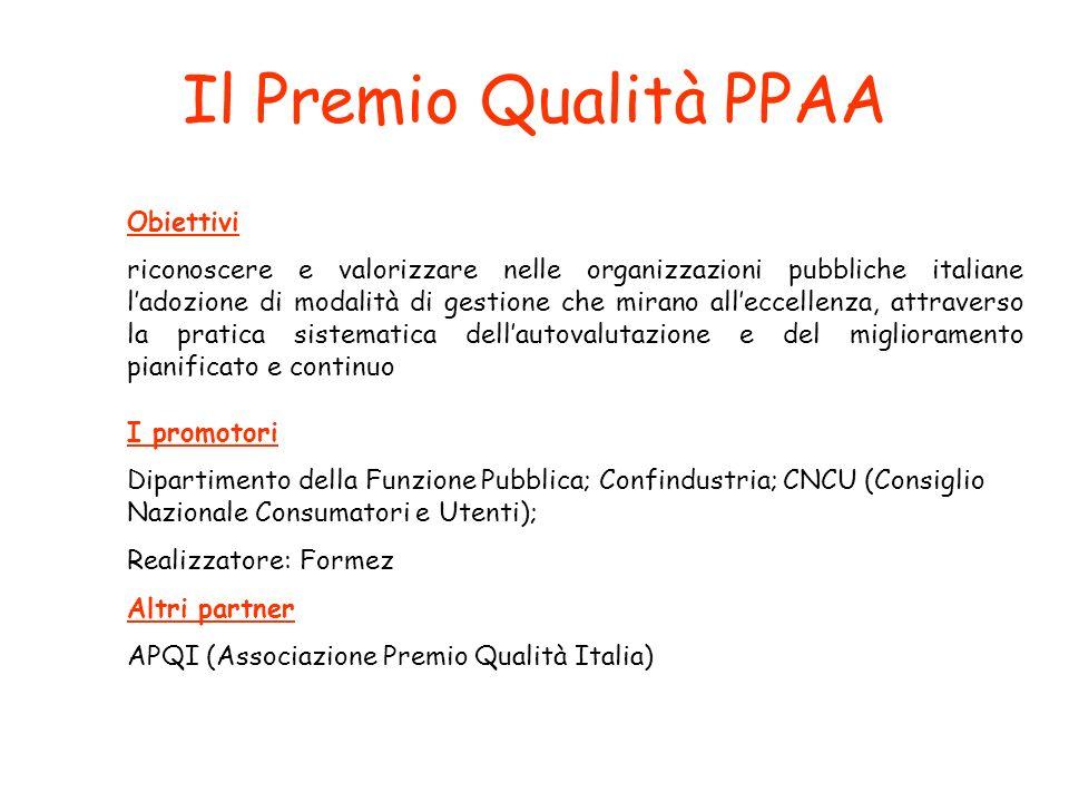 Il Premio Qualità PPAA Obiettivi
