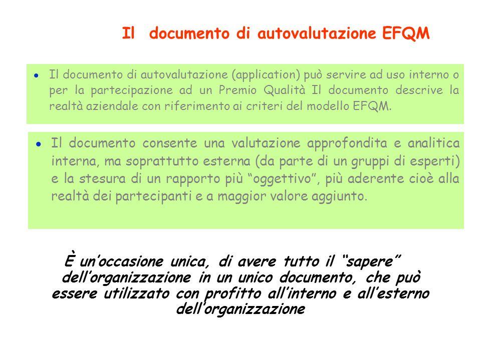 Il documento di autovalutazione EFQM