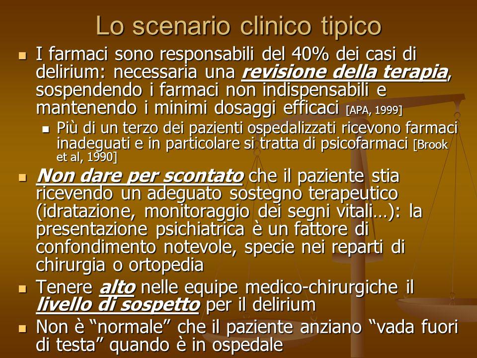 Lo scenario clinico tipico