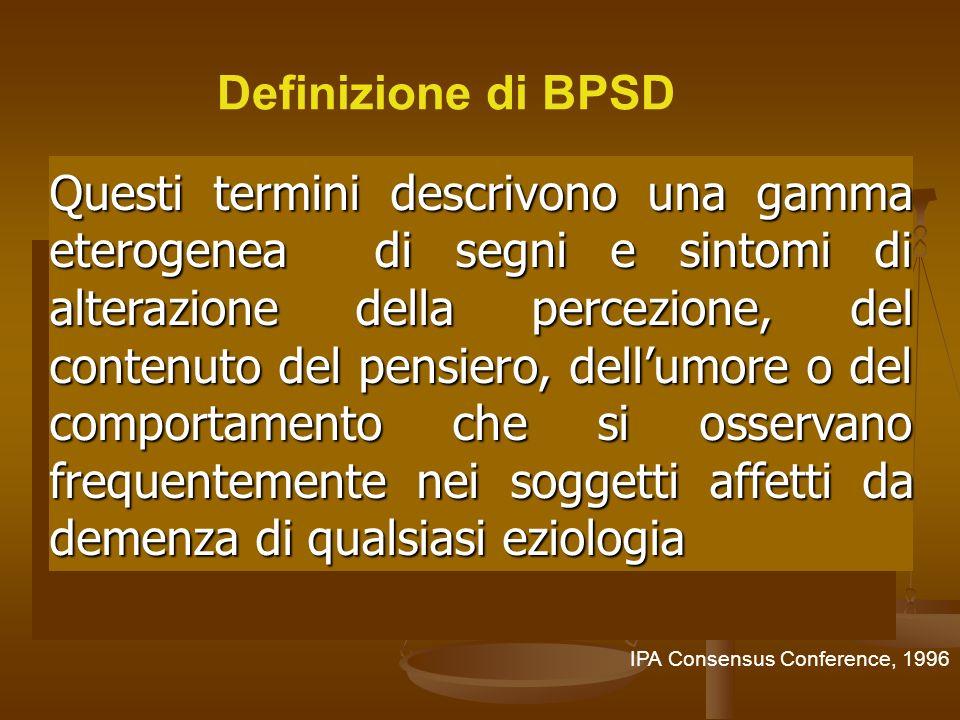 27/03/2017 Definizione di BPSD.