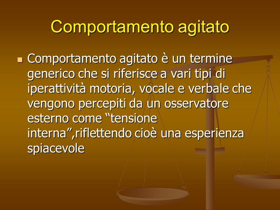 Comportamento agitato