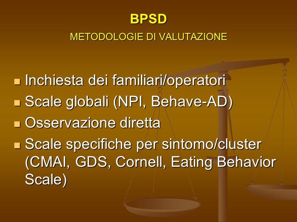 BPSD METODOLOGIE DI VALUTAZIONE