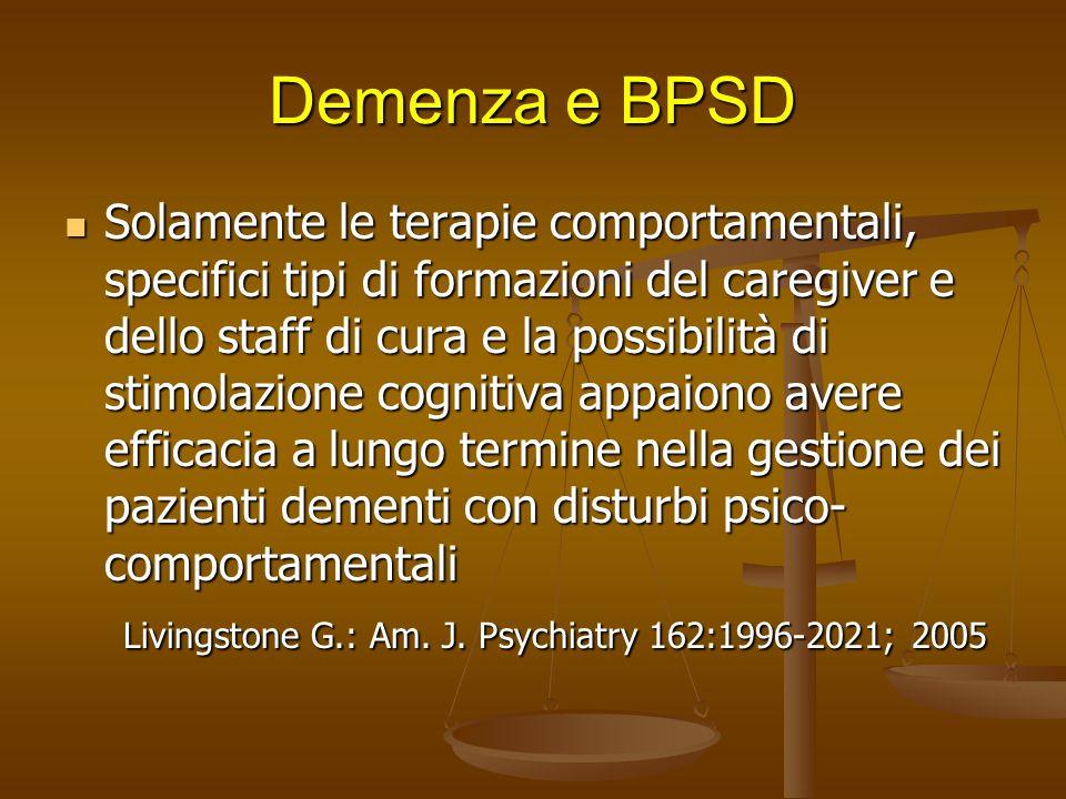 27/03/2017 Demenza e BPSD.