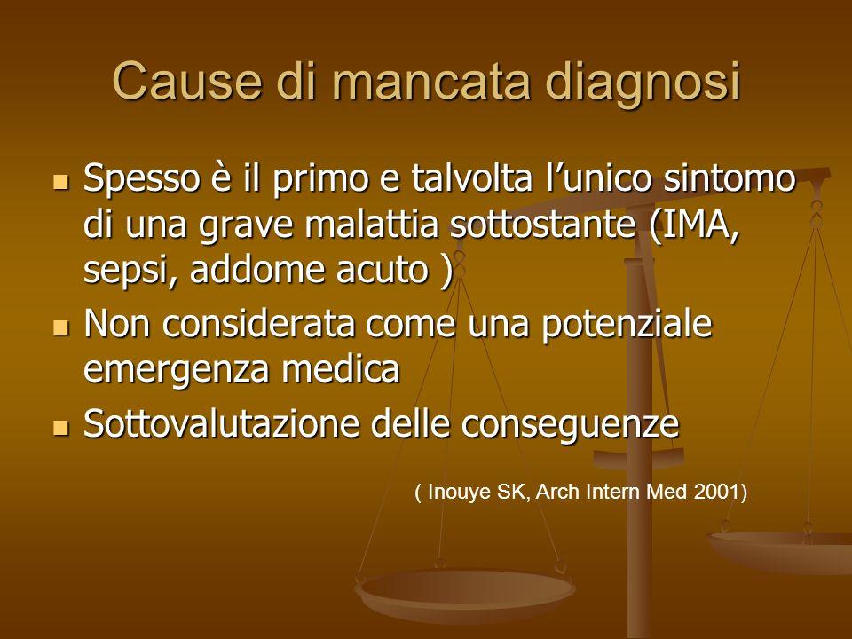 Cause di mancata diagnosi
