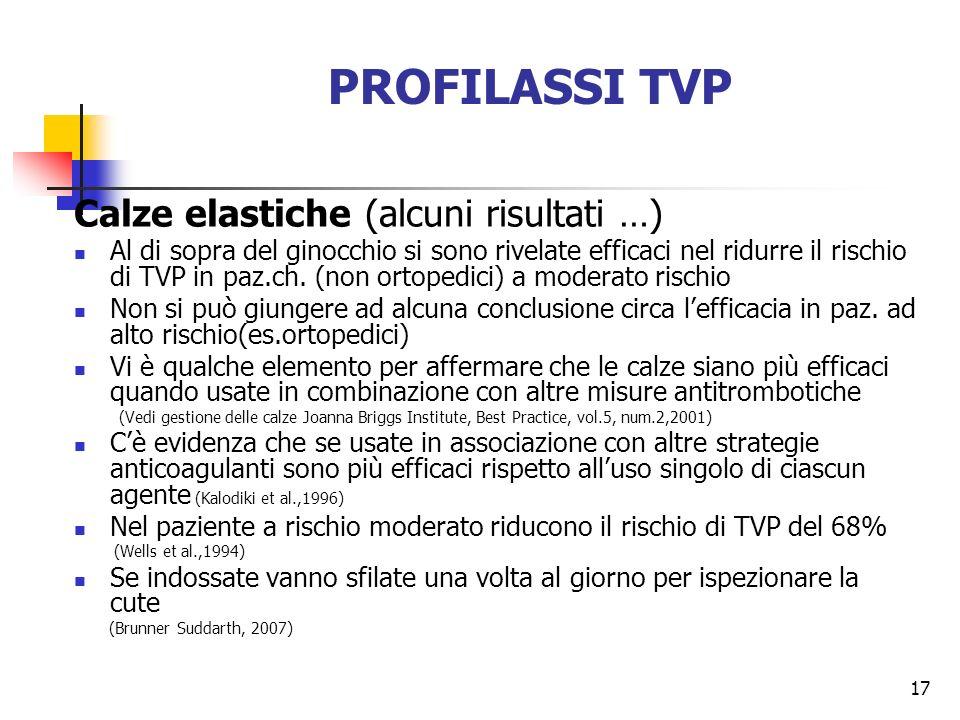 PROFILASSI TVP Calze elastiche (alcuni risultati …)