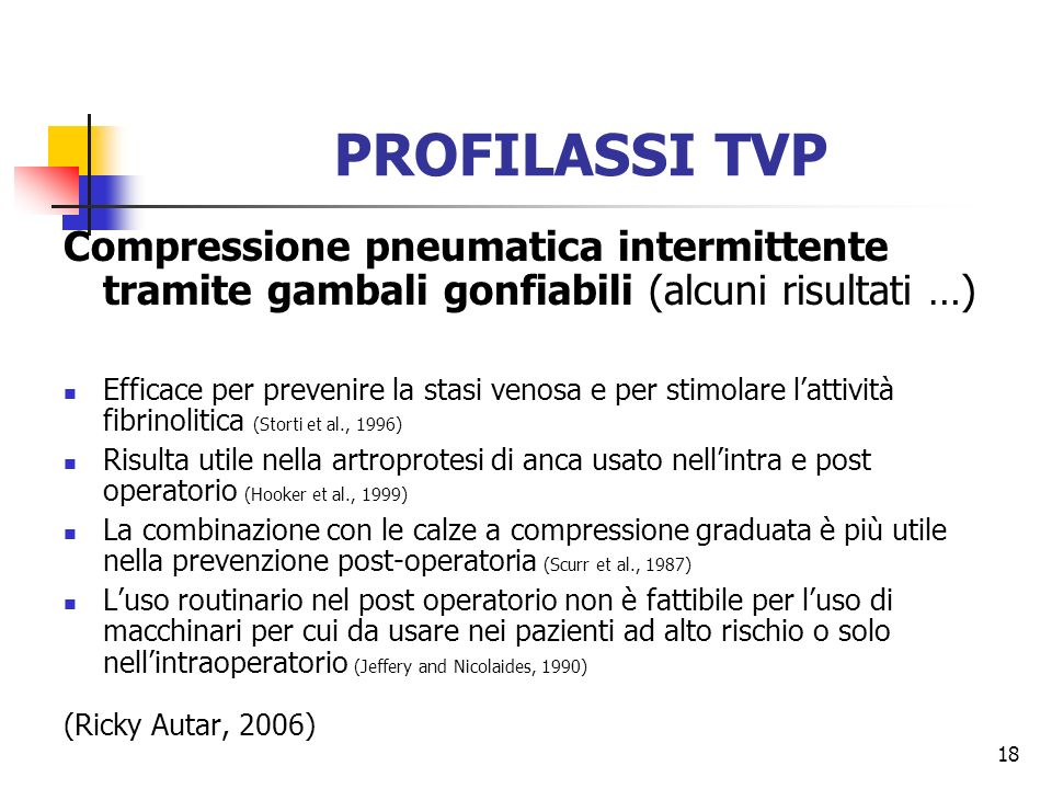 PROFILASSI TVP Compressione pneumatica intermittente tramite gambali gonfiabili (alcuni risultati …)