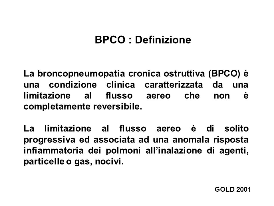 BPCO : Definizione