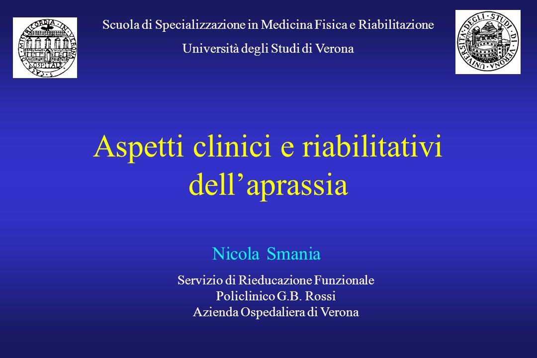 Aspetti clinici e riabilitativi dell'aprassia