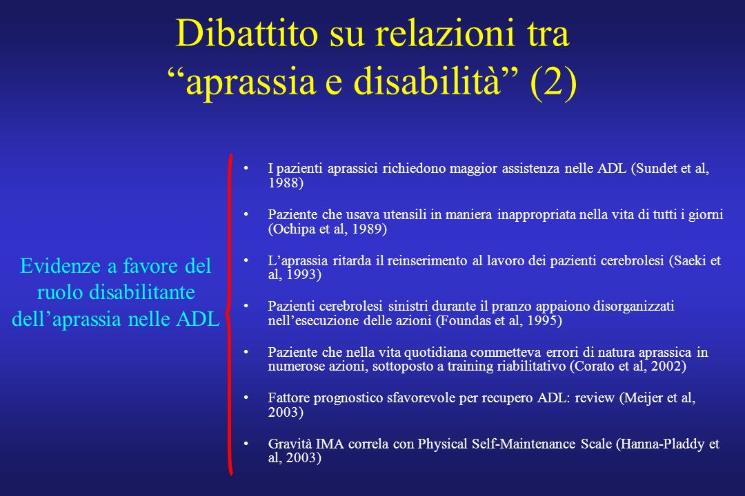 Dibattito su relazioni tra aprassia e disabilità (2)