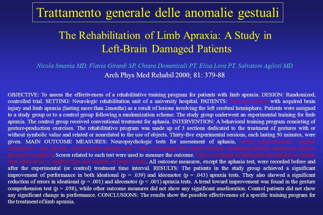 Trattamento generale delle anomalie gestuali