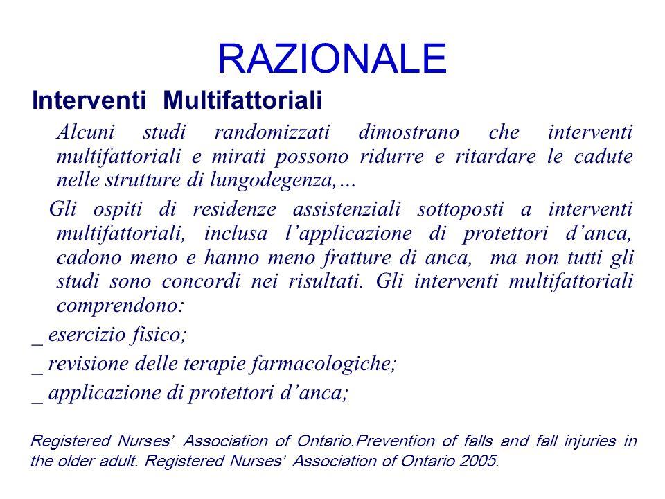 RAZIONALE Interventi Multifattoriali